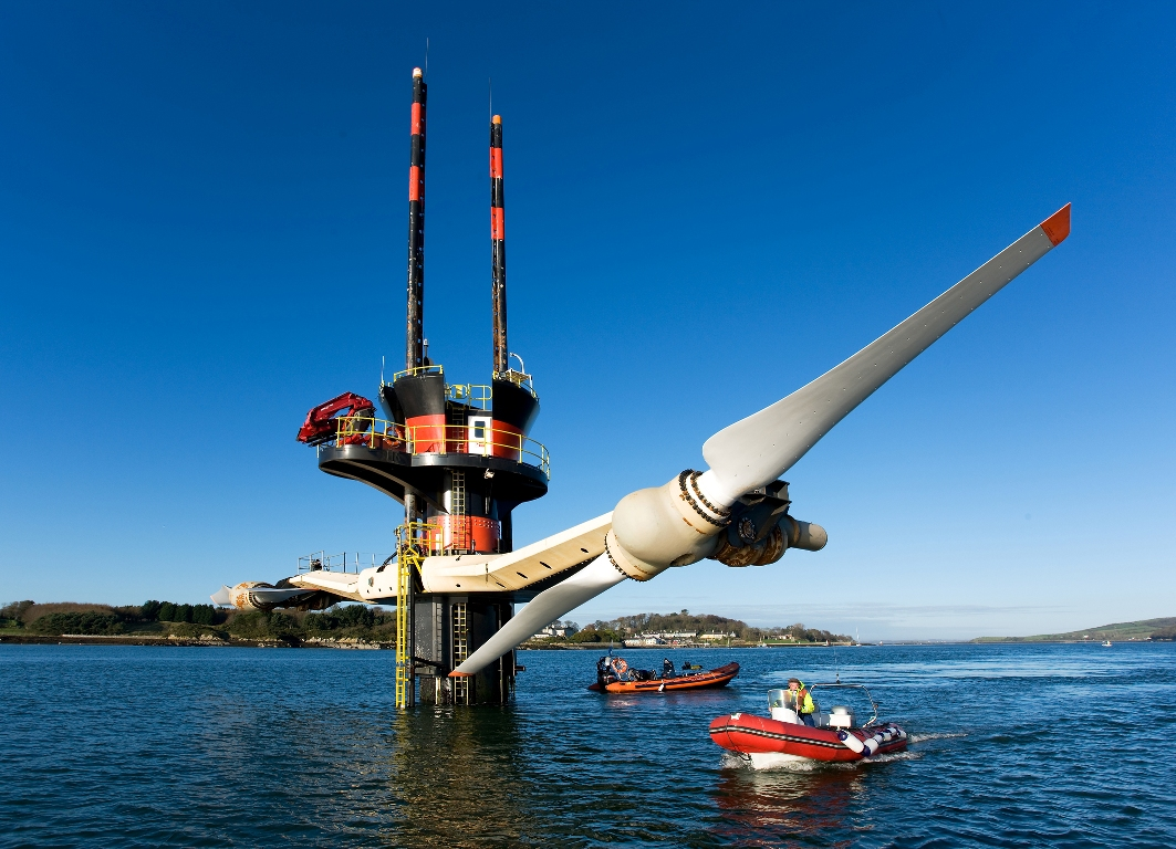 Tidal stream turbine by Marine Current Turbines