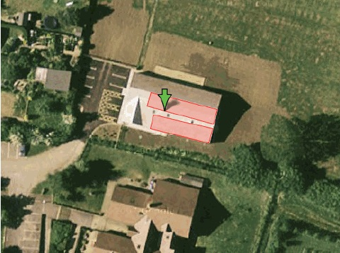 Image from Selector Report showing potential location of rooftop solar installation